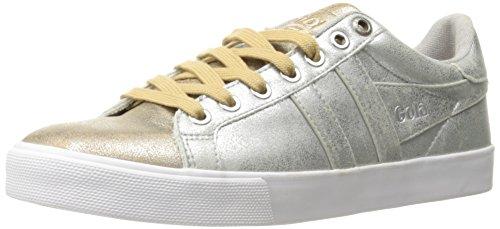 Gola Women's Orchid Super Metallic Fashion Sneaker, Silver/Gold, 6 M US