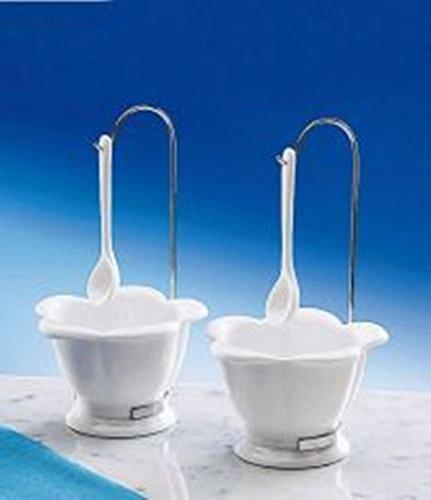 Glace viva lot de 2 cuillères en céramique 2 bols à céréales desertschale sundae