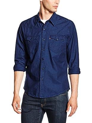 Levi's Camisa Hombre Casual (Azul Oscuro)