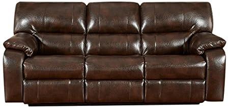 Chelsea Home Furniture Rita Reclining Sofa, Canyon Chocolate