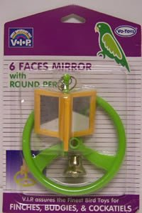 Vo-Toys Round Perch with Six Mirrors Bird Toy