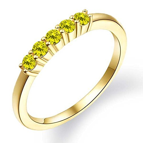033-Ct-Round-Canary-Diamond-18K-Yellow-Gold-Plated-Silver-Ring