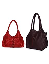 Arc HnH Women Combo Handbag Contemporary Maroon + Magnificent Red