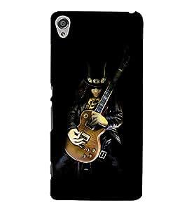 Guitar Designer 3D Hard Polycarbonate Designer Back Case Cover for Sony Xperia XA :: Sony Xperia XA Dual