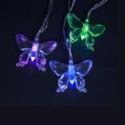 Kurt Adler Battery-Operated 10-Light Color Changing Led Butterfly Light Set