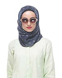 Modest Forever Navy Blue Printed Casual Hijab / Scarf