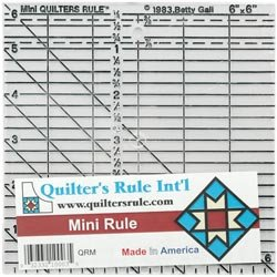 Quilters Rule Mini Quilters Ruler 6