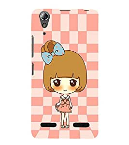 Vizagbeats Cute Animated Girl Back Case Cover for Lenovo A6000