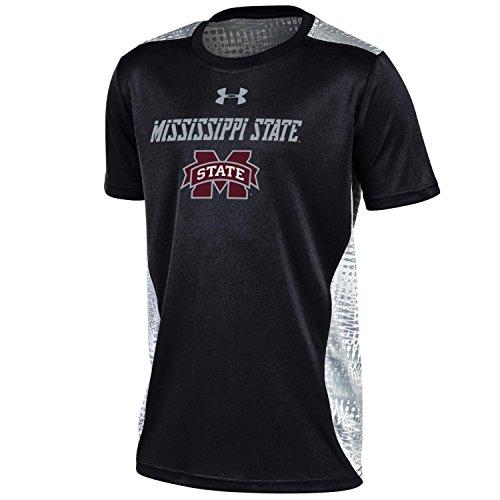 NCAA Mississippi State Bulldogs Boys Short Sleeve Raid Novelty Tee, Medium, Black