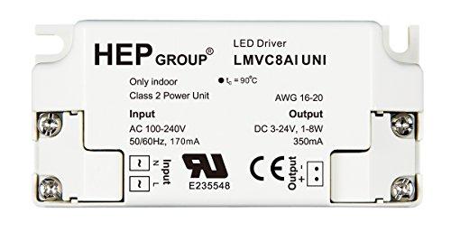 Robertson 3P30074 Lmvc8Aiuni Led Driver, 1-9 Watt, 100-240Vac Input, 350Ma Constant Current, 3-26Vdc Output