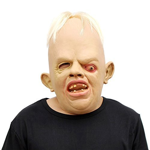 CreepyParty Deluxe Novelty Halloween Costume Party Latex Luminous Goonies Sloth Head Mask by CreepyParty