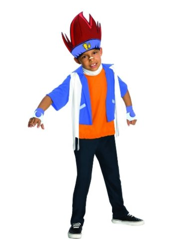 [Rubies Boys Beyblade Gingka Costume With Headpiece] (Beyblade Halloween Costumes)