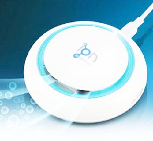 New Best Portable USB Anti Bacterial and Smoke Air Purifier Ionizer Blue for in Car Desk Room Home Made in South Korea