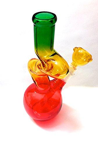 Handmade-Boro-8-Vase-Tri-Color-Hookah-Immutable-Colors-Vintage
