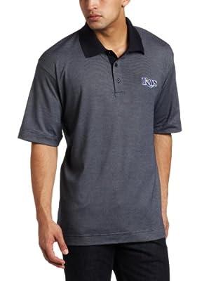 MLB Tampa Bay Rays Men's Drytec Resolute Polo Knit Short Sleeve Top