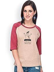 Campus Sutra Brown Quarter sleeves T-Shirts Zero (SS15SOL_RGQS_W_ZER_BRMA_S)
