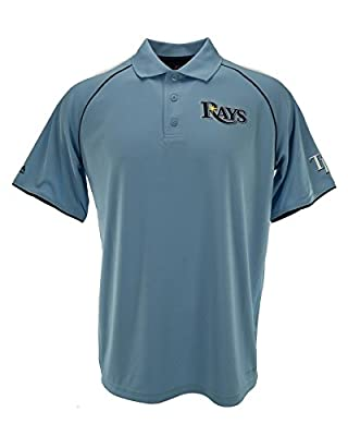 Tampa Bay Rays Majestic Coastal Blue Bases Loaded Polo Shirt