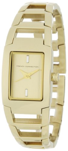 French Connection Women's FC1036G Classic Gold-Tone Stainless Steel Watch