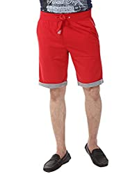 YOO Red color SHORTS for men