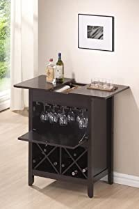 Wholesale Interiors Tuscany Brown Dry Bar and Wine Cabinet