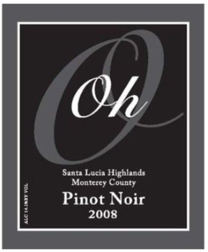 2008 Oh Wines Monterey County Santa Lucia Highlands Tondre Grapefields Pinot Noir 750 Ml