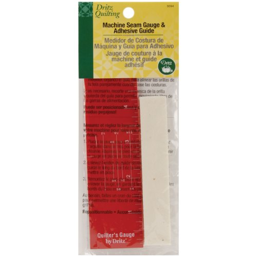 New Dritz Quilting Machine Seam Gauge and Adhesive Guide