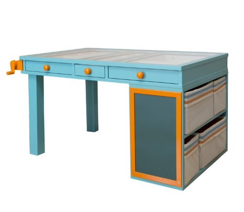 The Original Scrapbox The Jack And Jill Kids Desk Turquoise