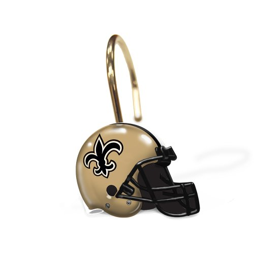 New Orleans Saints Shiwer Curtain Rings at Amazon.com