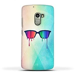 FUNKYLICIOUS Lenovo K4 Note Back Cover Love Wins Rainbow - Spectrum Pride Hipster Nerd Glasses Design (Multicolour)