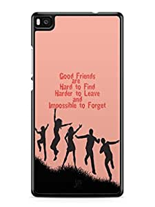 YuBingo Good Friends are Hard to Find Mobile Case Back Cover for Huawei P8