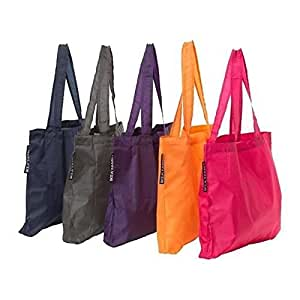 Ikea Upptacka Tote Bag (One of Each Color -- Pack of 5)