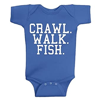 Amazon Crawl Walk Fish Baby Body Suit Funny Baby