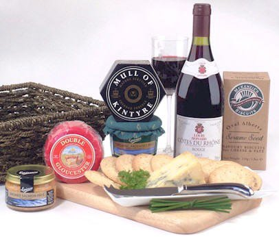 Wine, Cheese and Pate Hamper - Hampers and Gift Baskets