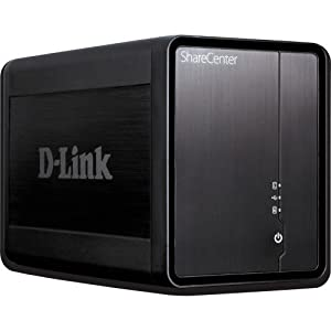 D-Link Systems ShareCenter 2-Bay USB 2.0 External Hard Drive Enclosure DNS-325 Black