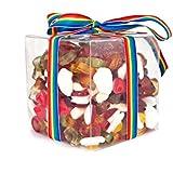 Haribo Sweets Gift Cube (Medium) with Ribbon, Perfect Retro Birthday, Father'...