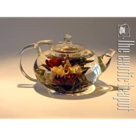 Lotus Glass Teapot 400ml by THE EXOTIC TEAPOT: Amazon.co.uk: Kitchen & Home :  glass teapot