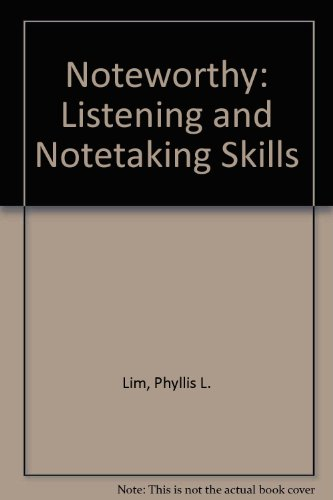 Noteworthy: Listening and Notetaking Skills PDF