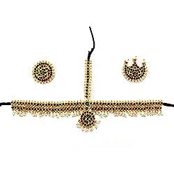 Adarsha Dress Palace Bharatnatyam Kuchipudi Dance Temple Ornament Head Set