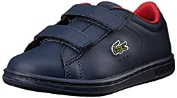 Lacoste Carnaby Evo ADV Sneaker (Toddler/Little Kid/Big Kid), Dark Blue, 7 M US Toddler