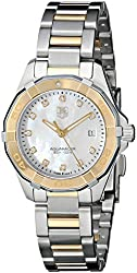 TAG Heuer Women's WAY1451.BD0922 Aquaracer Diamond-Accented Two-Tone Stainless Steel Watch