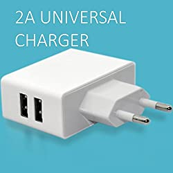 VG Munoth U201 2A dual port universal travel charger. 80cm micro USB charging cable included