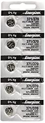 Energizer 371 or 370 Button Cell Silver Oxide SR920SW 5 Watch Batteries