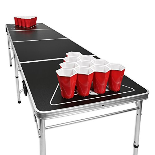 GoPong-8-Foot-Portable-Beer-Pong-Tailgate-Tables-Black-Football-or-American-Flag