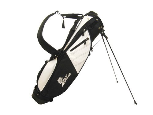 PALM SPRINGS Sunday Golf Bag w/stand White/Black