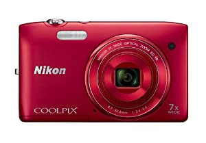 Nikon COOLPIX S3500 20.1 MP Digital Camera with 7x Zoom (Red)