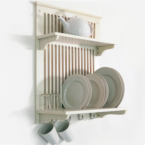 NOVEL - Kitchen Plate, Bowl, Cup Display / Wall Rack - Buttermilk