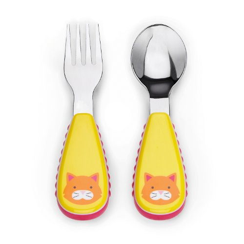 Skip Hop Zoo Utensil Set, Orange Cat, 12 Months Plus