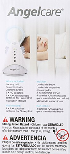 Angelcare Baby Sound Monitor, White