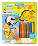 Discovery Kids Bath Crayon Set with Art Scenes, Space and Dinosaurs