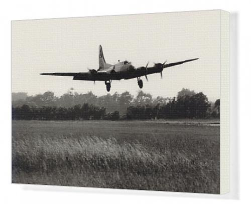 Canvas Artwork of Boeing B-17G Flying Fortress, /G-BEDF, Sally B,